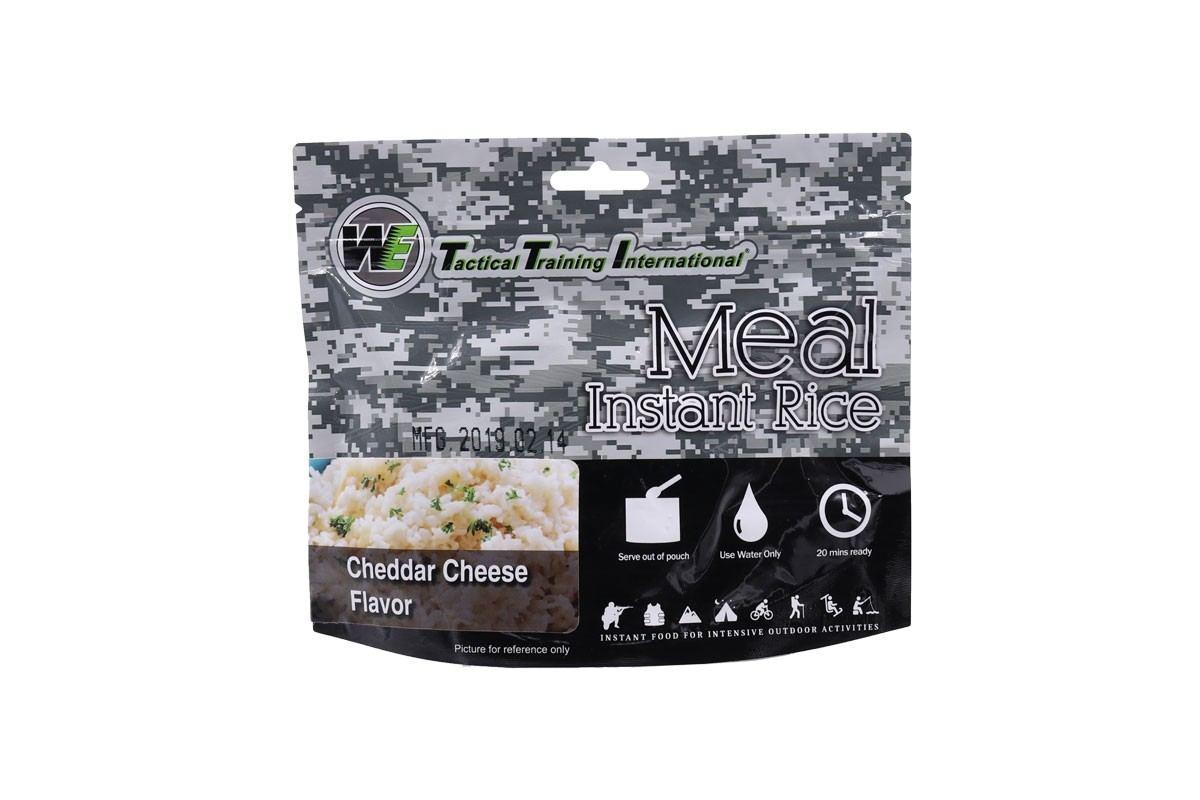 WE Tactical International Instant Rice - Cheddar Cheese Flavor