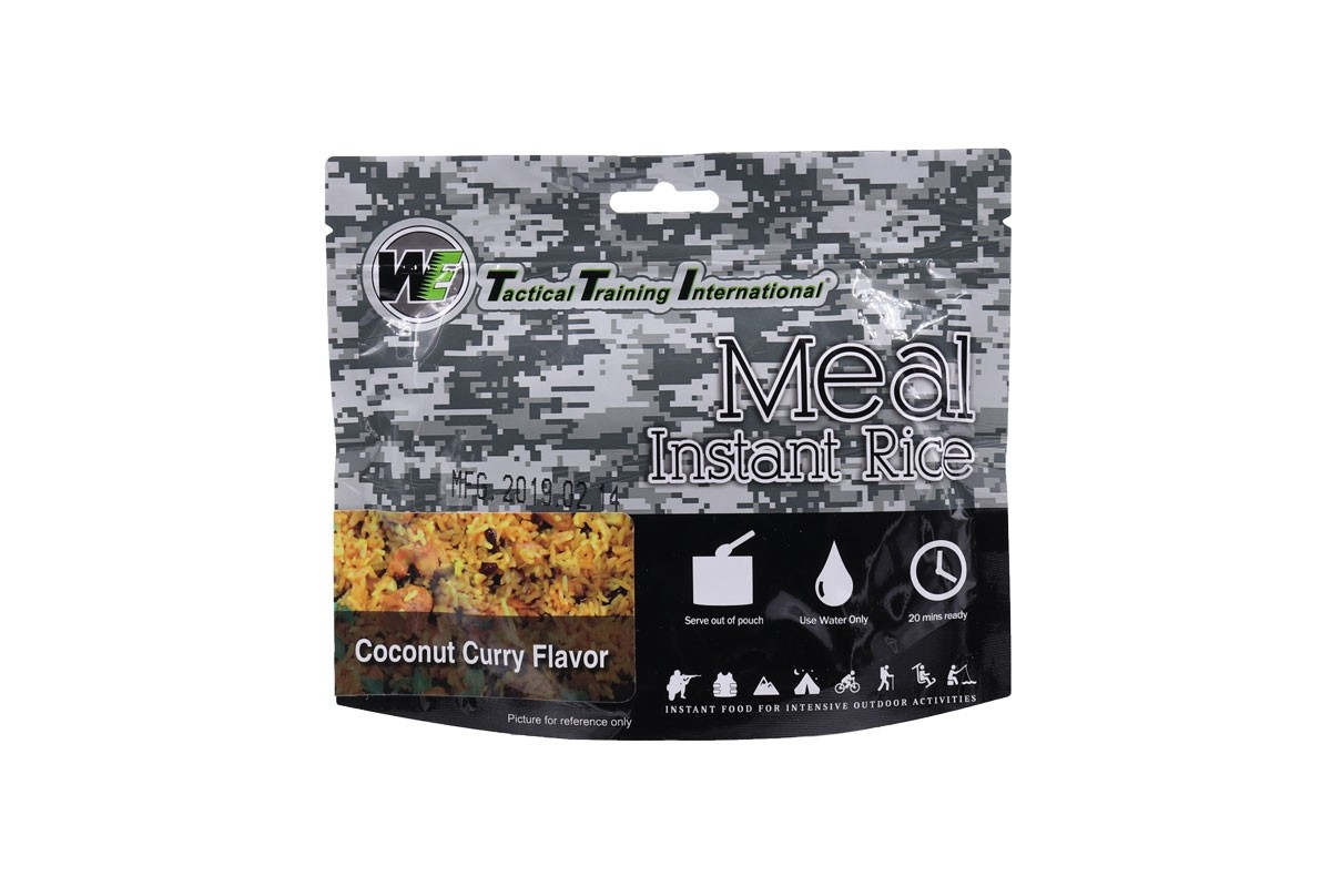 WE Tactical International Instant Rice - Coconut Curry Flavor