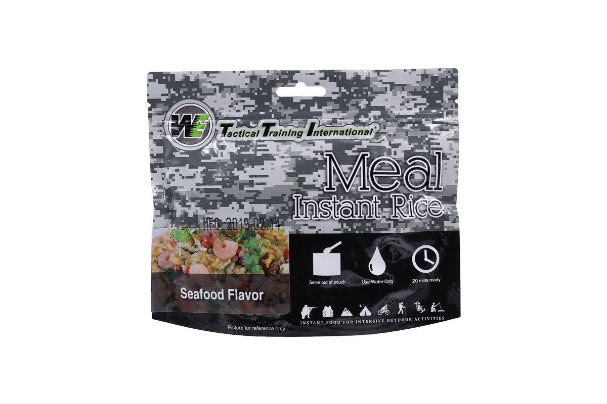 WE Tactical International Instant Rice - Seafood Flavor