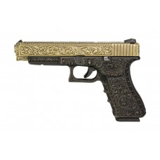 WE G34 Classic Floral Pattern - Bronze - With UPC Pistol Display Case