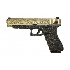 WE G35 Classic Floral Pattern - Ivory - With UPC Pistol Display Case