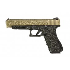 WE G34 Classic Floral Pattern - Ivory - With UPC Pistol Display Case