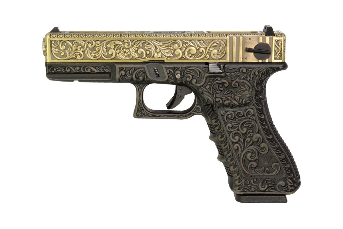 WE G18C Classic Floral Pattern - Bronze - With UPC Display Case