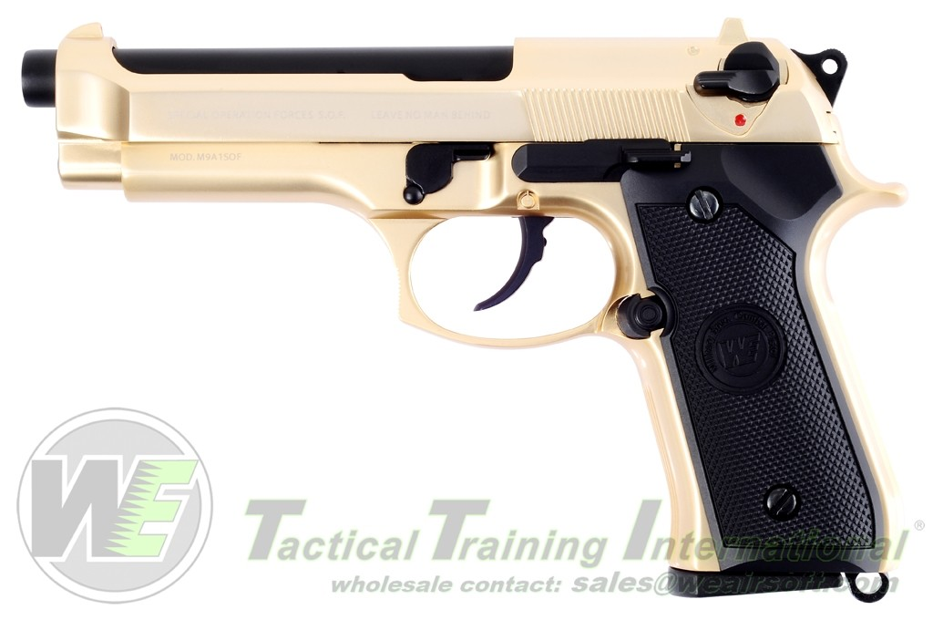WE-M004 WE M92 Full Metal  GBB Pistol GOLD