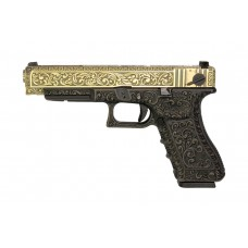 WE G35 Classic Floral Pattern - Bronze - With UPC Pistol Display Case